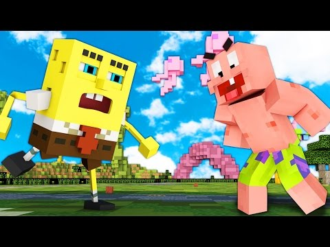 Minecraft Bikini Bottom WAR: Spongebob VS Patrick Star 3vs3!