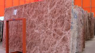 776 브라운 천연 대리석 인테리어 아트월 마감 시공 …