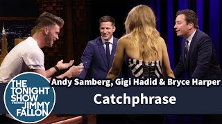 Download Catchphrase with Andy Samberg, Gigi Hadid and Bryce Harper Mp3 and Videos