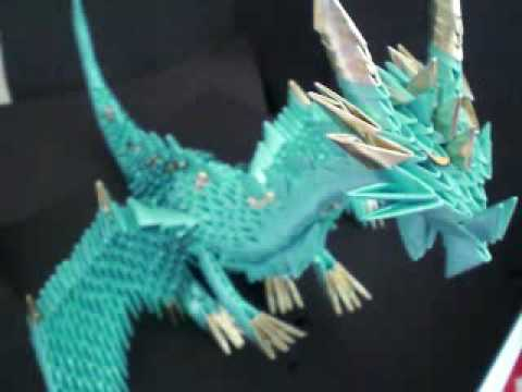 3D origami red Chinese dragon tutorial (instruction) - YouTube ... | 360x480