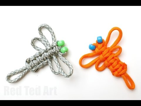 Easy Paracord Dragon Fly How To - YouTube