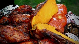 BBQ WAS AMAZING  | Chef Ricardo Cooking | ROAST SWEET POTATOES BBQ CHICKEN | PART 6 2020