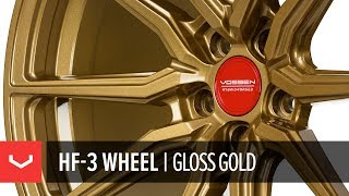 Vossen Hybrid Forged HF-3 Wheel   Gloss Gold Custom Finish
