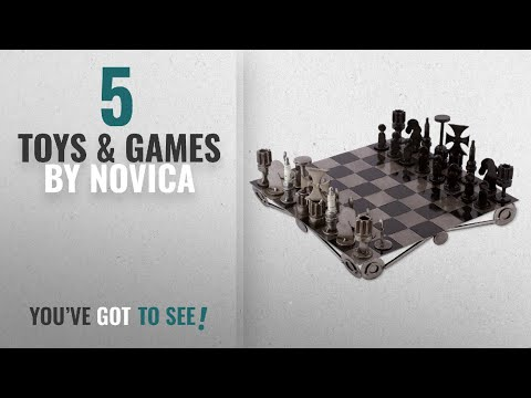 Top 10 Novica Toys & Games [2018]: NOVICA Decorative Recycled Metal Handmade Tabletop Chess Set,