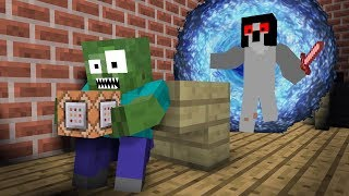 Monster School: Command Blocks | Slendrina - Minecraft Animation