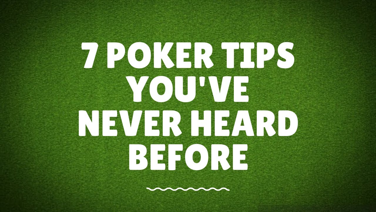 7 Pro Poker Tournament Tips You've Never Heard Before