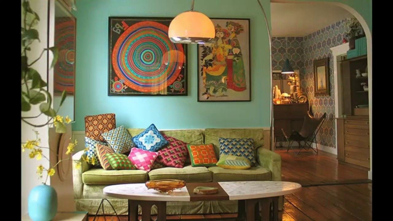 Modern Retro living room ideas - YouTube