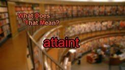 What does attaint mean?