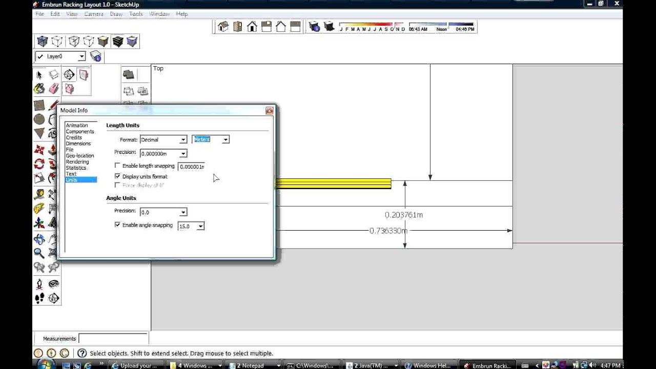 Sketchup changing dimension units within a drawing youtube for Google sketchup converter