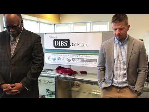Grand Haven Christian School's Principal James Onderlinde at DIBS! On Resale Prayer Blessing Event