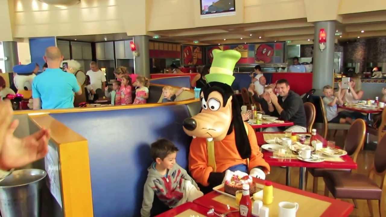 Mickey Cafe Disneyland Paris Menu