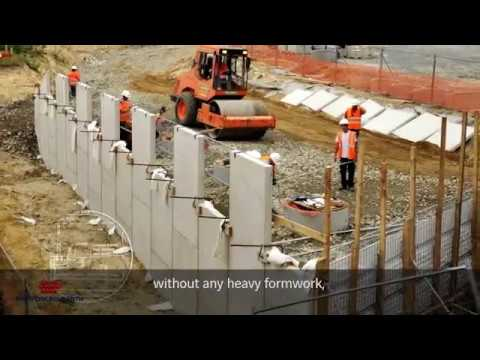 Reinforced Earth 174 Walls For High Speed Trains Youtube