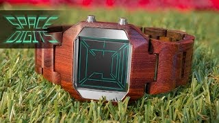 Wood Watches - Kisai Space Digits Natural Wooden Watch Design From Tokyoflash Japan