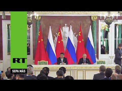 El presidente chino llega a Rusia para reunirse con Putin