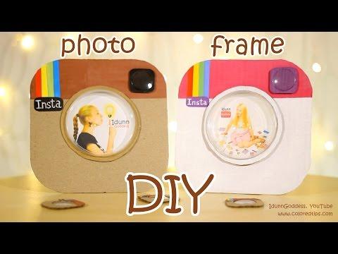 DIY Instagram Photo Frame Out Of a Pizza Box and Pringles Cap - DIY Room Decor Idea