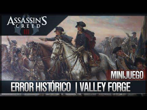 Assassin's Creed 3 | Juego del Error histórico | El valley Forge | Solución + Link