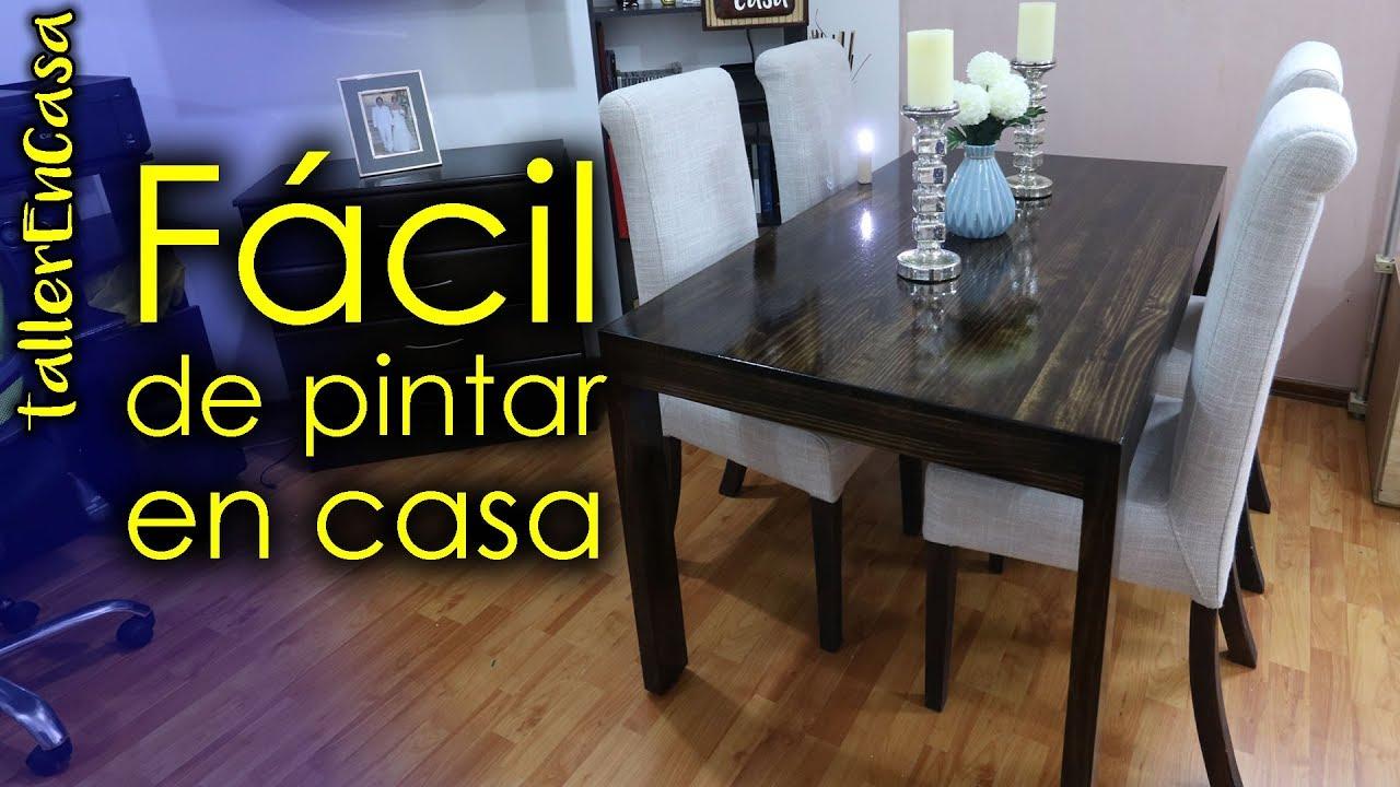 Como pintar mesa de comedor paso a paso - YouTube