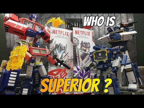 Download NETFLIX Transformers WFC Series Soundwave/Optimus Prime Battle 3-Pack REVIEW AND COMPARISON