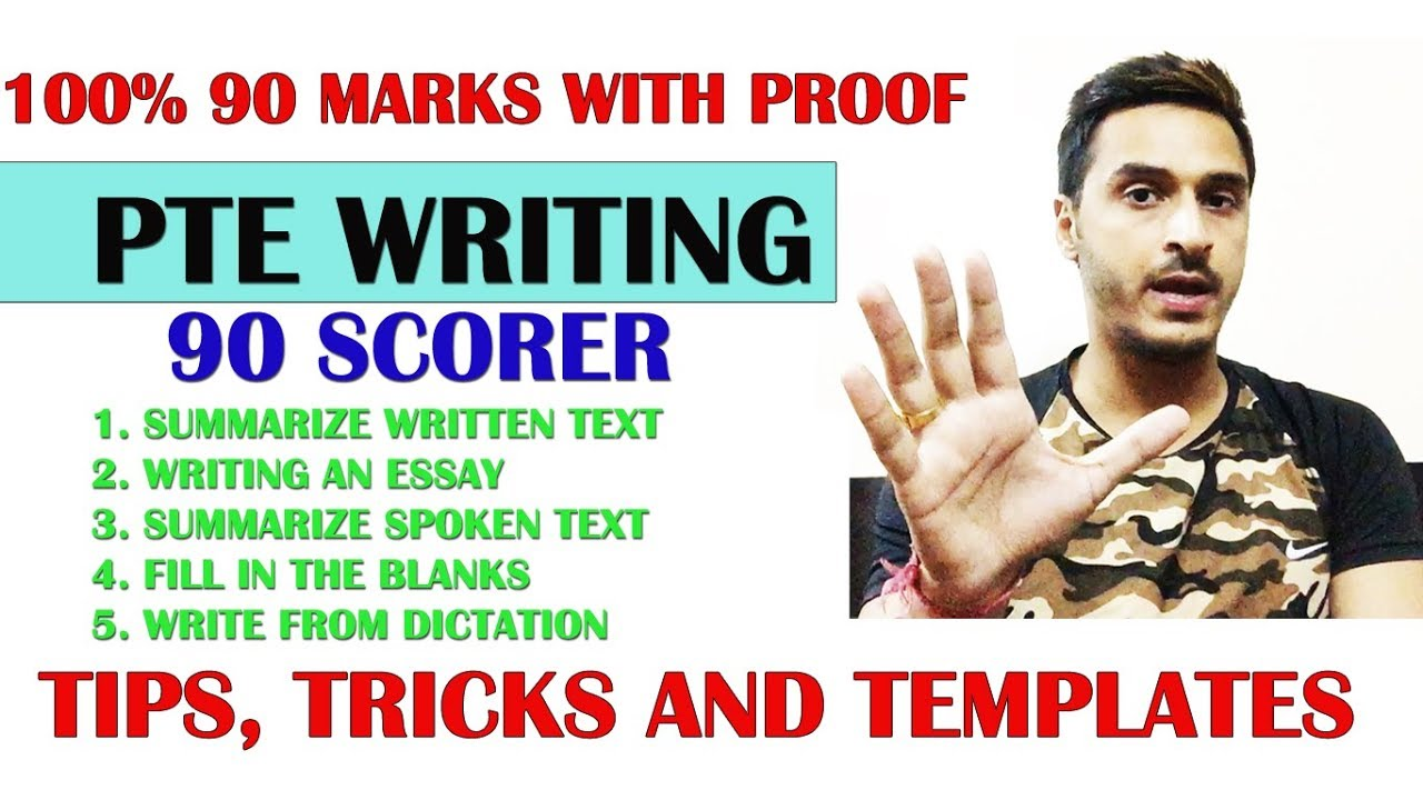100   90 marks proof   pte writing tips  tricks and templates to get 90