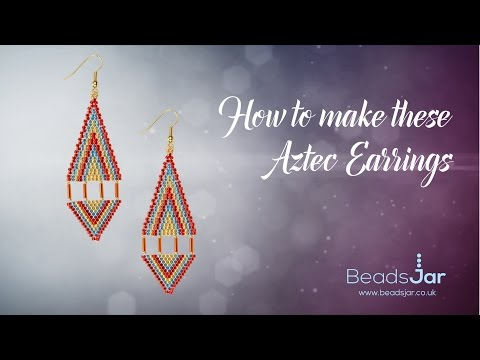 How to make these Aztec Earrings | Seed Beads