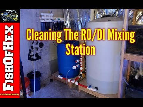 Cleaning The RO/DI Mixing Station | Getting Ready For A Water Change On The 300