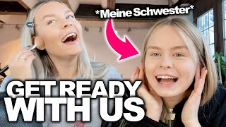 *Spontan* Get READY with us ( mit meiner Schwester Leni ) 🖤 | Dagi