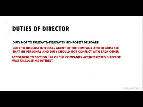 duties of directors in a company