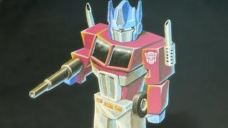 Transformers: Optimus Prime 3D Chalk Art - AWE me Artist Series