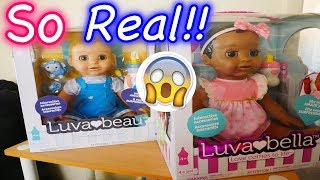 LuvaBella Baby Doll Opening Real Life Baby Robot Doll Review!