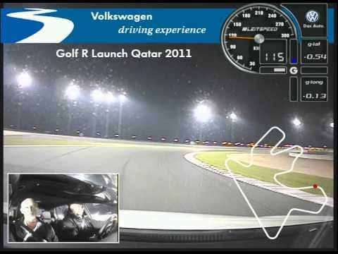 Golf R fast lap around Losail circuit in Qatar