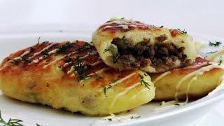 Зразы картофельные с фаршем. Оооооочень вкусно.