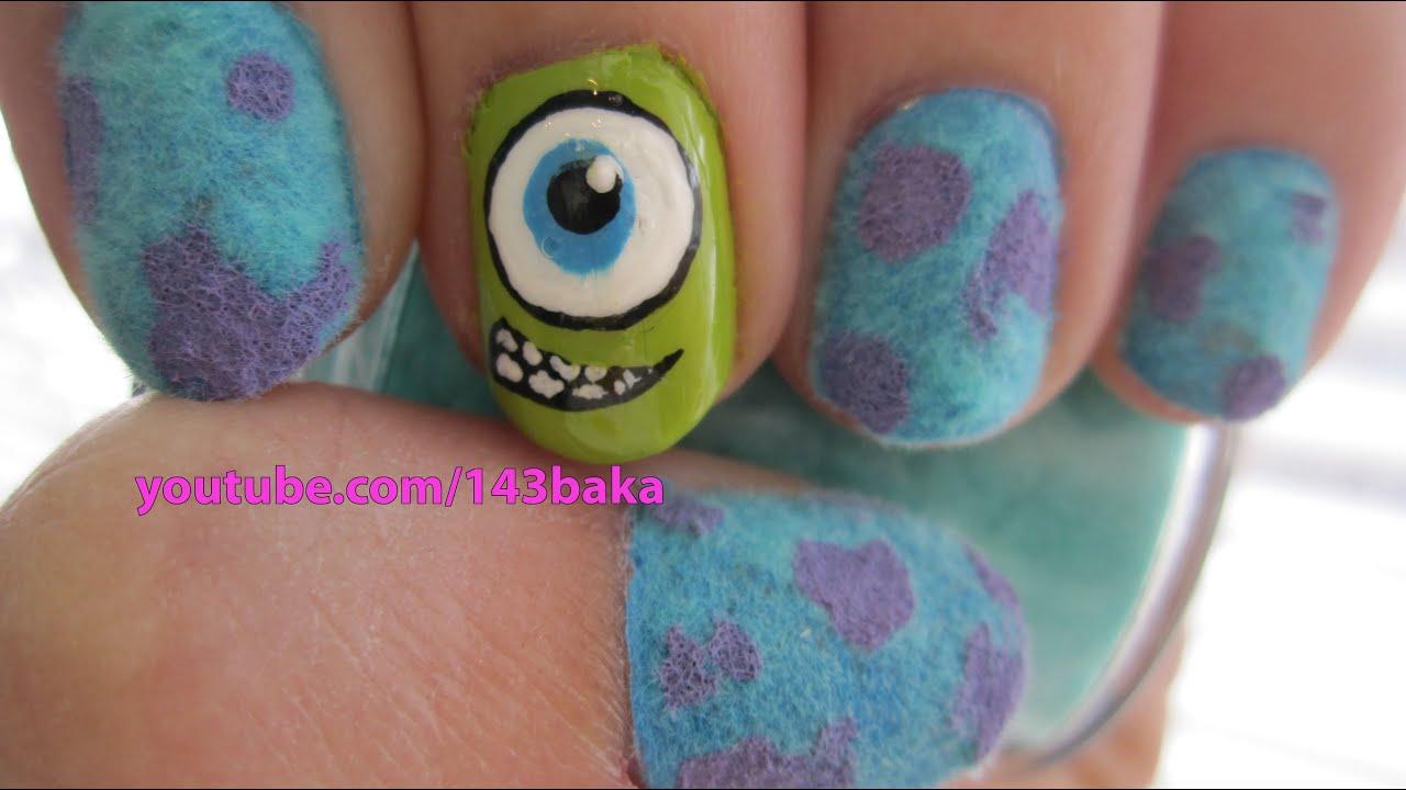 monsters . velvet nails