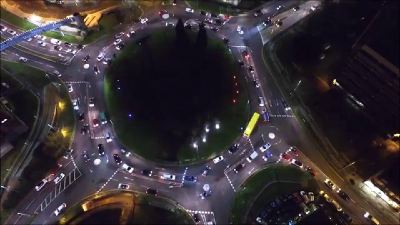 Dji Phantom 2 >> dji phantom 3 night footage of magic roundabout (hemel ...