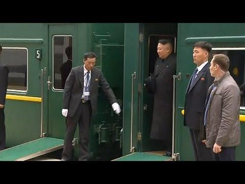 Kim Jong-un est arrivé à Vladivostok à bord de son train blindé