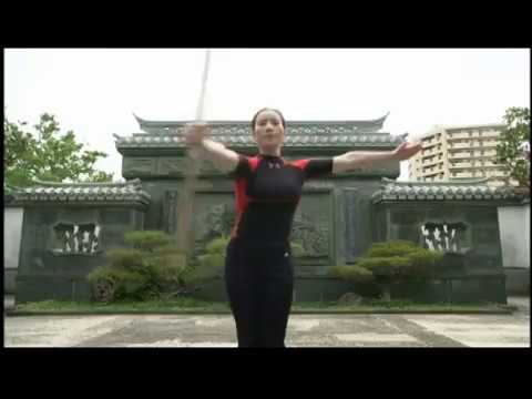 SONG-LI sensei   宋麗先生・棍術 天行健中国武術館