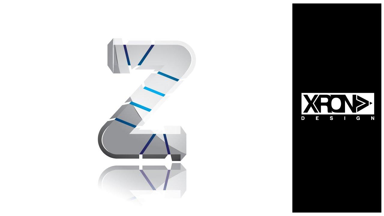 LOGO DESIGN  The Z 3D in Adobe Illustrator