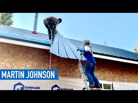 DIY Metal Roofing Install | Off Grid Cabin Build #55