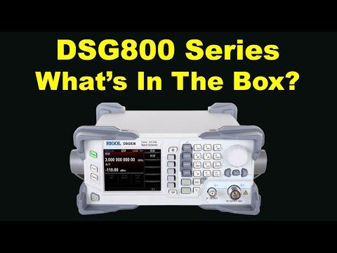 Whats in the box: Rigol DSG800 RF signal generator