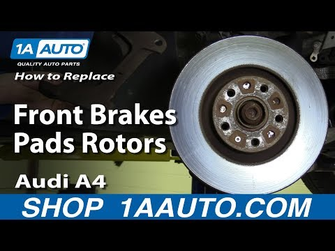 How to Replace Front Brakes Pads Rotors 2005-09 Audi A4