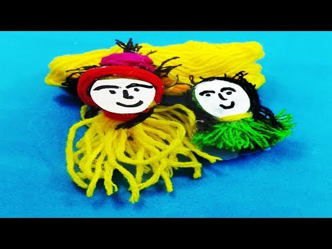 DIY Yarn Dolls.How to make Doll making idea tutorials | Room decor idea || Mr.Paper crafts