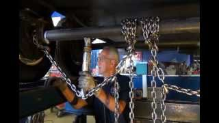 Professional Travel Trailer Axle Straightening