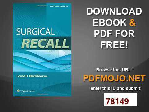 Surgical Recall Ebook