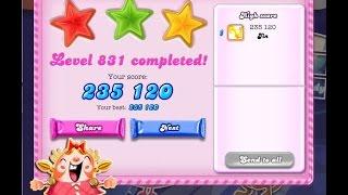 Candy Crush Saga Level 831     ★★★   NO BOOSTER