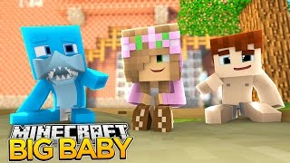 Minecraft Big Baby LITTLE KELLY MEETS SHARKY AS A BABY