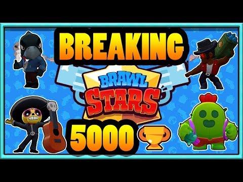 Brawl Stars Getting 5000 Trophies Poco Smash and Grab Control Strategy Tara Crow Spike And Brock