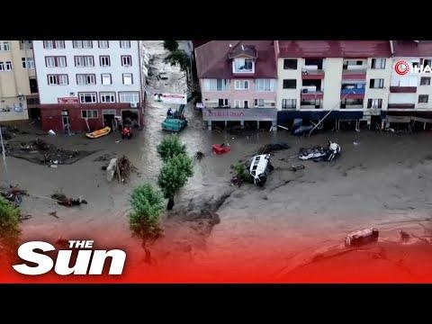 Flooding in Turkey's Black Sea region has claims at least nine lives