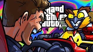 GTA5 Online Funny Moments - Formula One VS Mr. Plow!