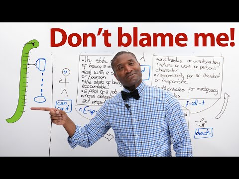 Vocabulary & Life Tips: BE RESPONSIBLE! DON'T BLAME ME! WHOSE FAULT IS IT?