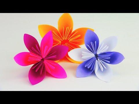 Blume Falten Origami DIY / Schöne Blumen für den Frühling / Ostern Anleitung | deutsch