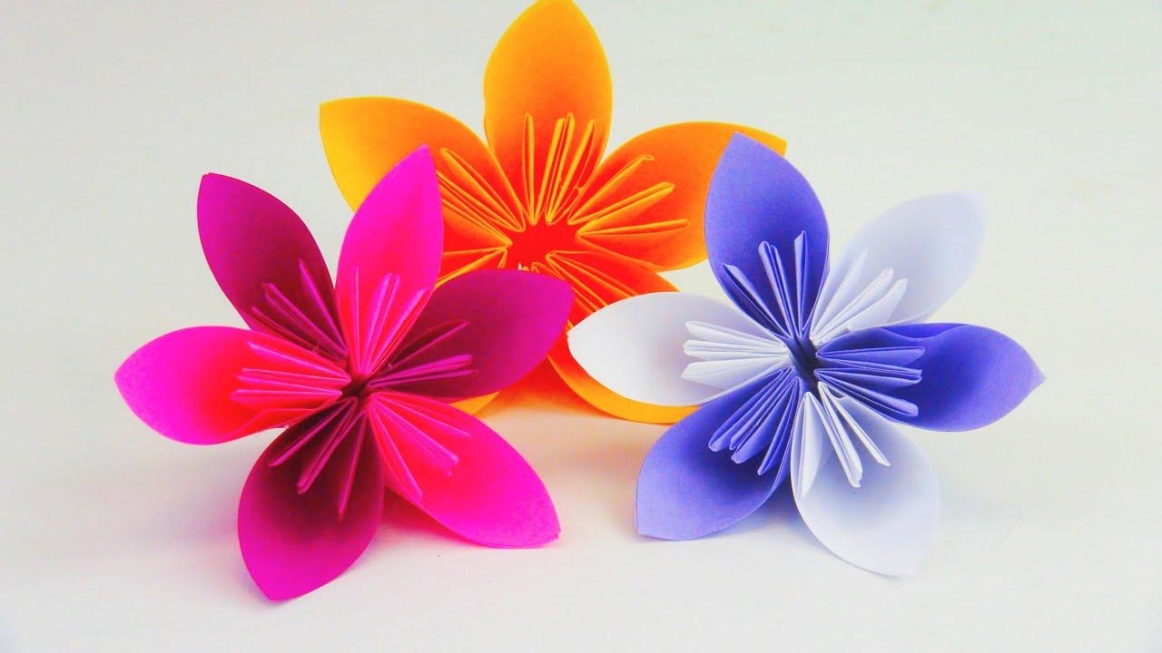 Blume Falten Origami Diy  Schöne Blumen Für Den Frühling